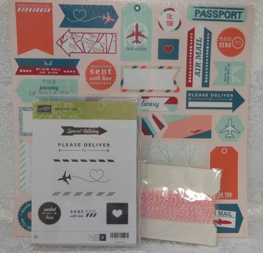 Sent With Love Stamp Set includes DSP and Baker's Twine
