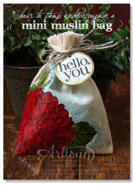 muslin bag red